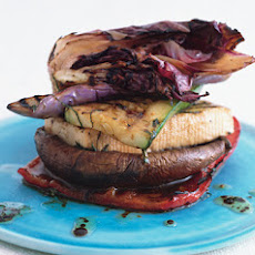 Grilled Veggie and Tofu Stack with Balsamic and Mint