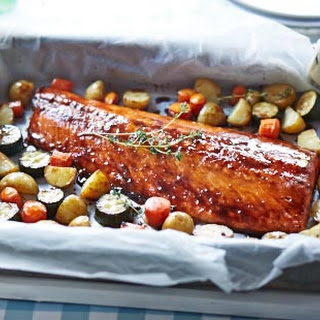 Maple-glazed Roast Salmon