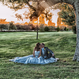 Silent Kiss by Zara Cowdray - Wedding Bride & Groom ( wedding photography, wedding photographers, weddings, wedding, wedding photographer )