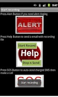 Screenshot of anti-Kidnap SOS Voice+