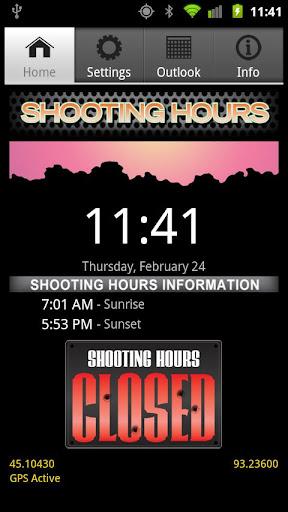 Shooting Hours Sunrise Sunset