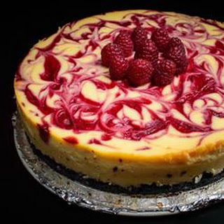 Valentine's White Chocolate Raspberry Cheesecake
