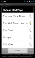 Screenshot of News Pal™ (voice browser)