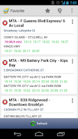 Screenshot of New York MTA Schedule