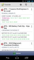 Screenshot of New York MTA Schedule