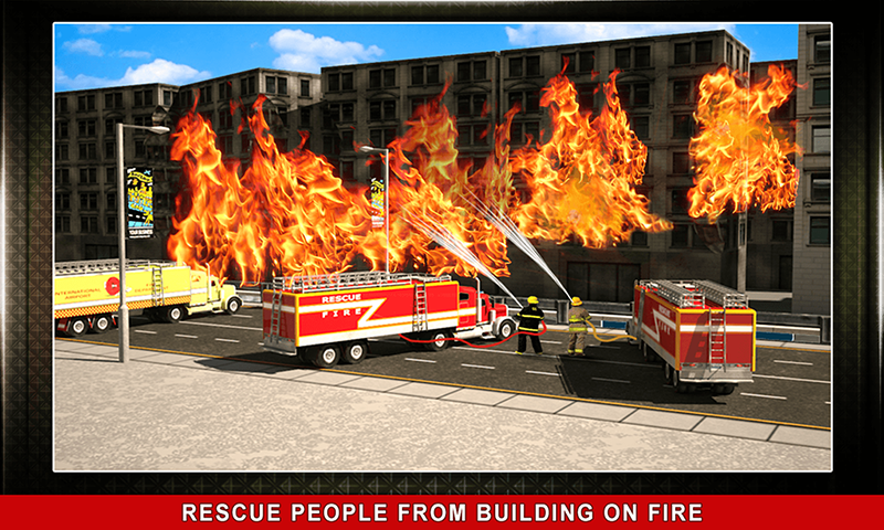 911 Rescue Fire Truck 3D Sim Screenshot 2