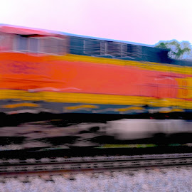 Speed by Stephen Barrett - Transportation Trains