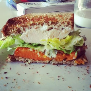 Grilled Chicken & Yam Sandwhich