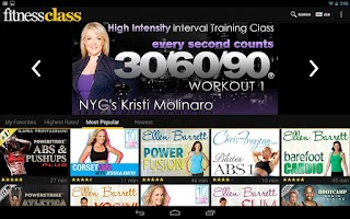 Screenshot of FitnessClass