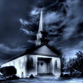Chapel In Distress  by Sylvia Smialkowska - Digital Art Places