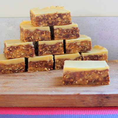 Chocolate and Peanut No-Bake Slice