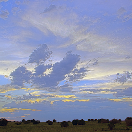 Desert Sky by Jon Foley - Landscapes Deserts ( clouds, desert, albuquerque, new mexico )