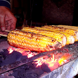 Grilled Corn by Nguyen Trong - Food & Drink Cooking & Baking ( new year, indonesia, street, bandung, grilled corn )