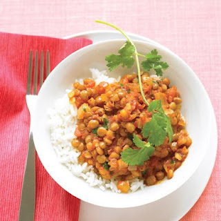 Curried Lentils in Tomato Sauce