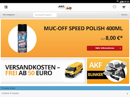 Screenshot of AKF Shop