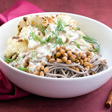 Roasty Soba Bowl With Miso Tahini