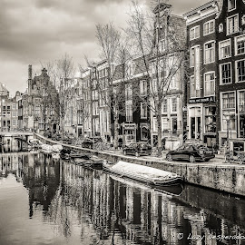 Rembrandt's Town by Lazy Desperados - City,  Street & Park  Historic Districts ( holland, amsterdam, netherlands )