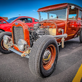 Orange Rod by Ron Meyers - Transportation Automobiles