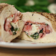 Stuffed Chicken Breasts With Feta, Spinach, and Ham