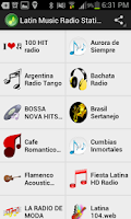 Screenshot of Latin Music Radio Stations
