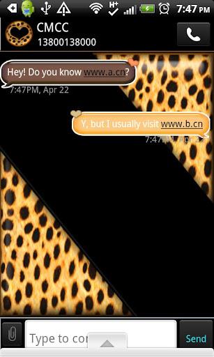 GO SMS THEME OrangeCheetah