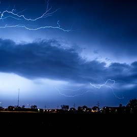Strike One by Nick Neben - Landscapes Weather ( lightning, thunderstorm, night, nikon, nebraska,  )