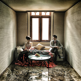 Natural Light by Leong Ong - Wedding Bride & Groom ( natural light, pre wedding )