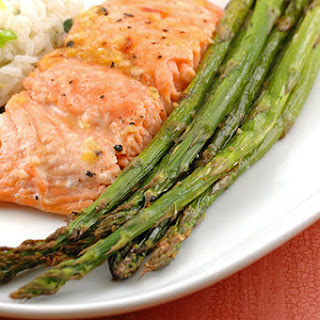 Honey-Lemon Glazed Salmon With Buttery Ginger Rice