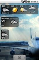Screenshot of Snowstorm weather widget