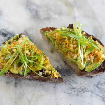 Avocado Coconut Oil Tartine