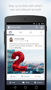 Facebook at Work Business app for Android Preview 1