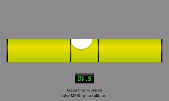 Screenshot of Spirit Level with bubble