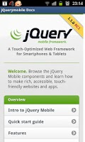 Screenshot of jQuery mobile 1.1.0 Demos&docs