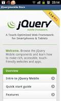 Screenshot of jQuery mobile 1.1.0 Demos&docs