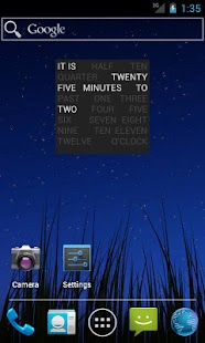 Word Clock Widget - screenshot