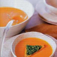 Spicy Roasted Squash Soup with Pumpkin Seed Pesto