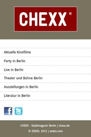 CHEXX - Stadtmagazin Berlin