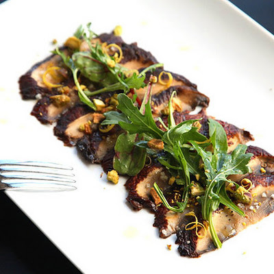 Miso-Marinated Portobello Carpaccio (Vegan)