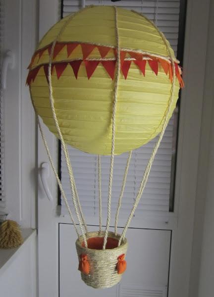 Как сделать абажур из воздушных шаров