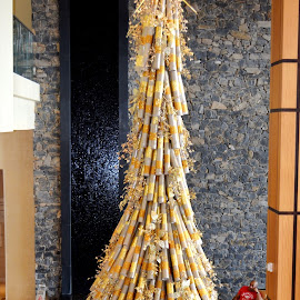 Awesome Bamboo Christmas Tree by Leslie-Ann Boisselle - Novices Only Objects & Still Life ( bamboo, tree, christmas, decorations, tropics )