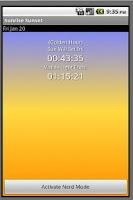 Screenshot of Sunrise Sunset