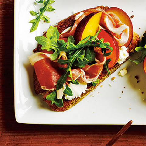 Open-Faced Prosciutto and Plum Sandwiches Recipe | Yummly