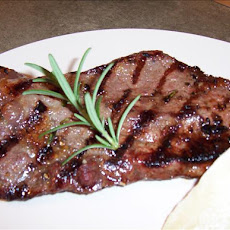 Rosemary-Roasted Garlic Strip Steaks