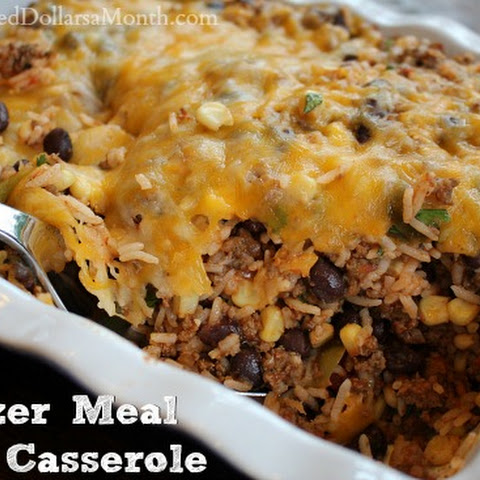 Ground Beef Freezer Meal – Taco Casserole