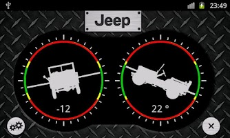 Screenshot of Jeep Inclinometer Pro