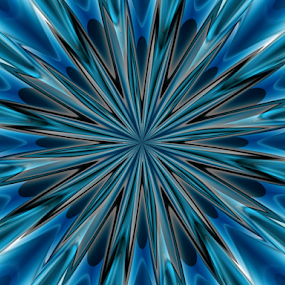 Abstract 2 by Tina Dare - Illustration Abstract & Patterns ( abstract, patterns, manipulated, designs, blues, shapes )