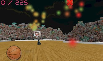 Screenshot of Basketball Shoot: 3D Strike