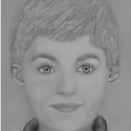 Portrait little boy by Lin Da Grant - Drawing All Drawing