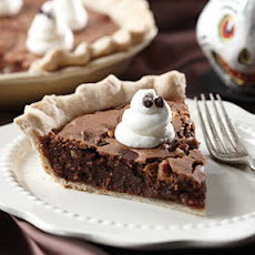 Ghost-Topped Fudge Pie