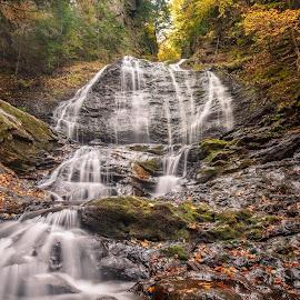 Moss Glen Falls by David Long - Nature Up Close Water ( moss glen falls, waterfall, vermont )